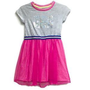 Cat & Jack gray and Pink Superhero Dress